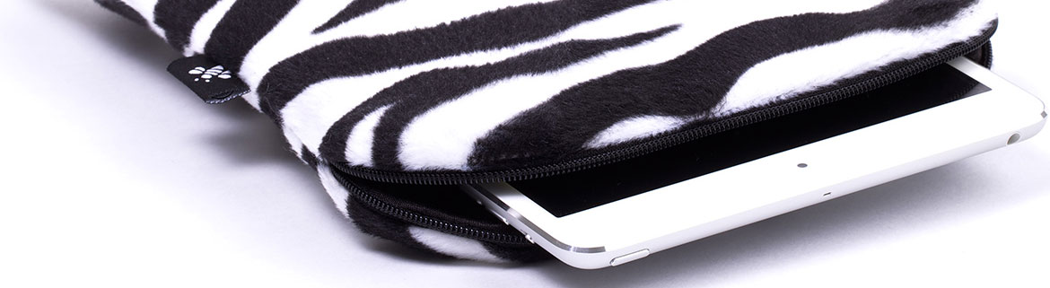 iPad mini sleeve Zebra