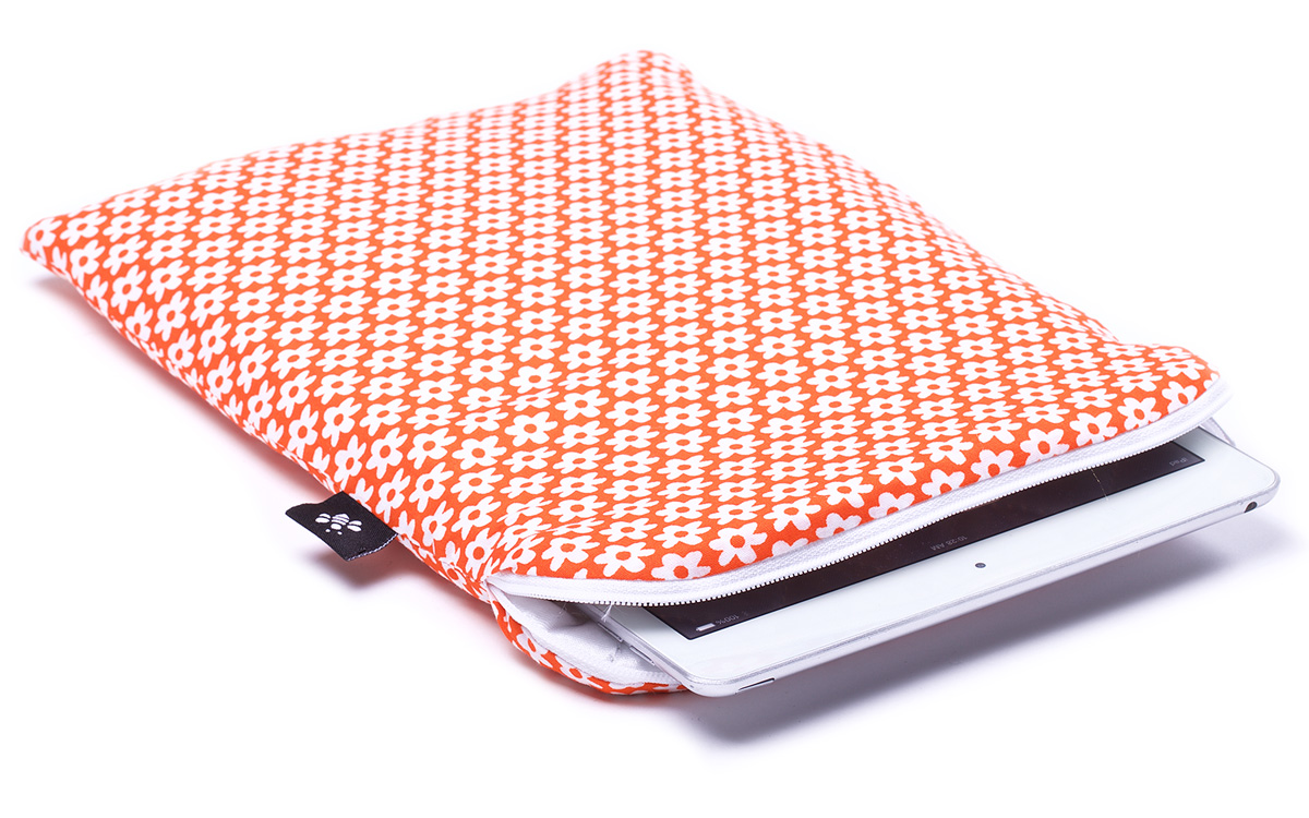 Orange flowers ipad air sleeve orange for Housse i pad mini
