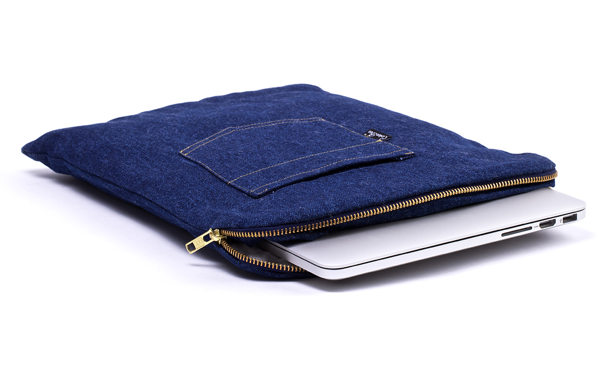 Denim Jeans Laptop Sleeve Blue