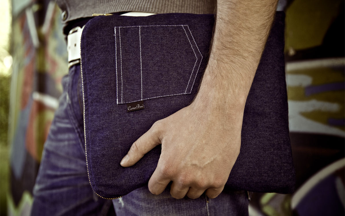 Denim (jeans) laptop sleeve (blue)