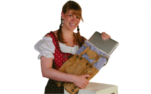 Lederhosen Laptop Sleeve 2