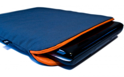Blue Orange Laptop Sleeve