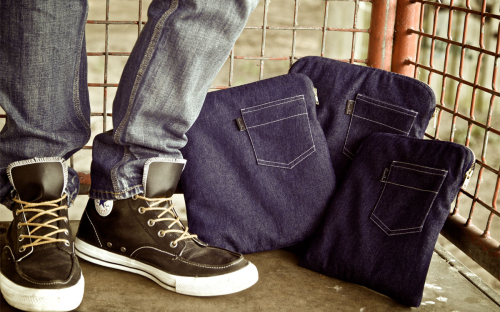Denim (jeans) iPad sleeve 2