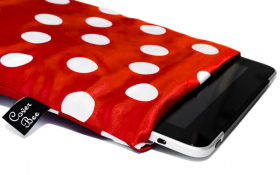 Red Polka dot iPad Sleeve