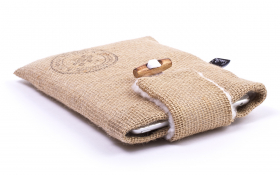 Burlap iPad mini Sleeve - Funky Farmer