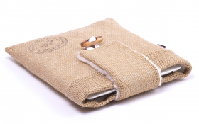 Burlap iPad Air Sleeve - Funky Farmer