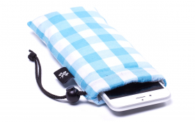 Blue checkered iPhone Sleeve - Heavenly Delight
