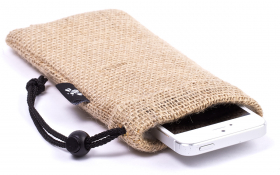 Burlap iPhone Sleeve - Funky Farmer