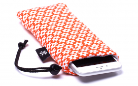Orange flowers iPhone Sleeve - Retro Orange
