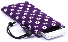 Purple iPhone Sleeve - Happy Flower