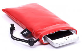 iPhone Sleeve Red Leather – Crystal Creation