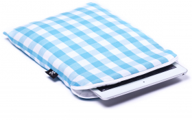 Blue checkered iPad Air Sleeve - Heavenly Delight