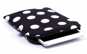 Polka dot iPad mini Sleeve - Black Polka