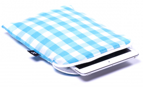 Blue checkered iPad mini Sleeve - Heavenly Delight