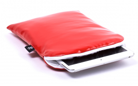 iPad mini Sleeve Red Leather – Crystal Creation