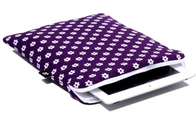 Purple iPad Sleeve - Happy Flower