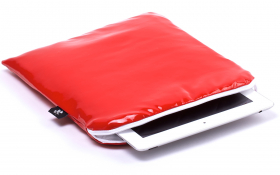 iPad Air Sleeve Red Leather – Crystal Creation