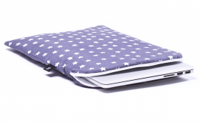 Gray stars Laptop Sleeve - Stardust