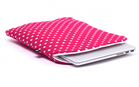 Pinkish Red Macbook Sleeve