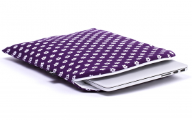 Purple Macbook sleeve - Happy Flower