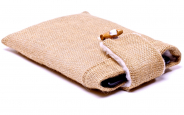 Burlap iPad mini Sleeve 1
