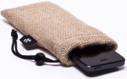 Burlap iPhone Sleeve 1